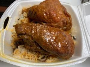 brown stew chicken jamaican food